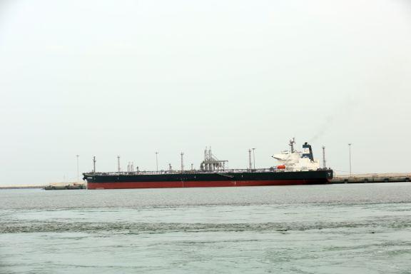Vessel discharging at OTB-4M
