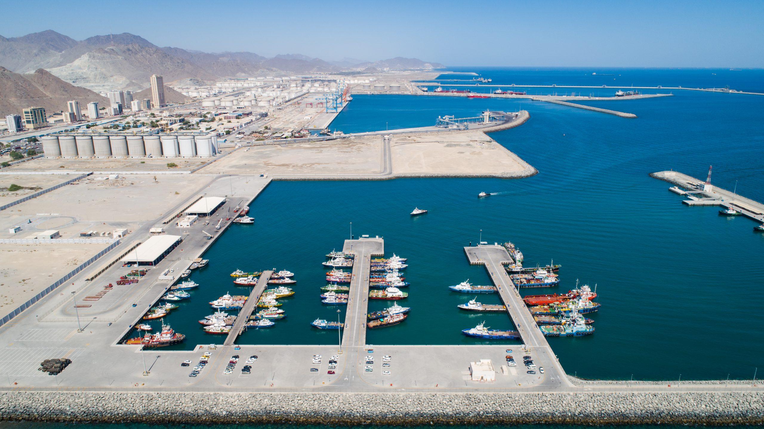 Aerial View of the Port of Fujairah
