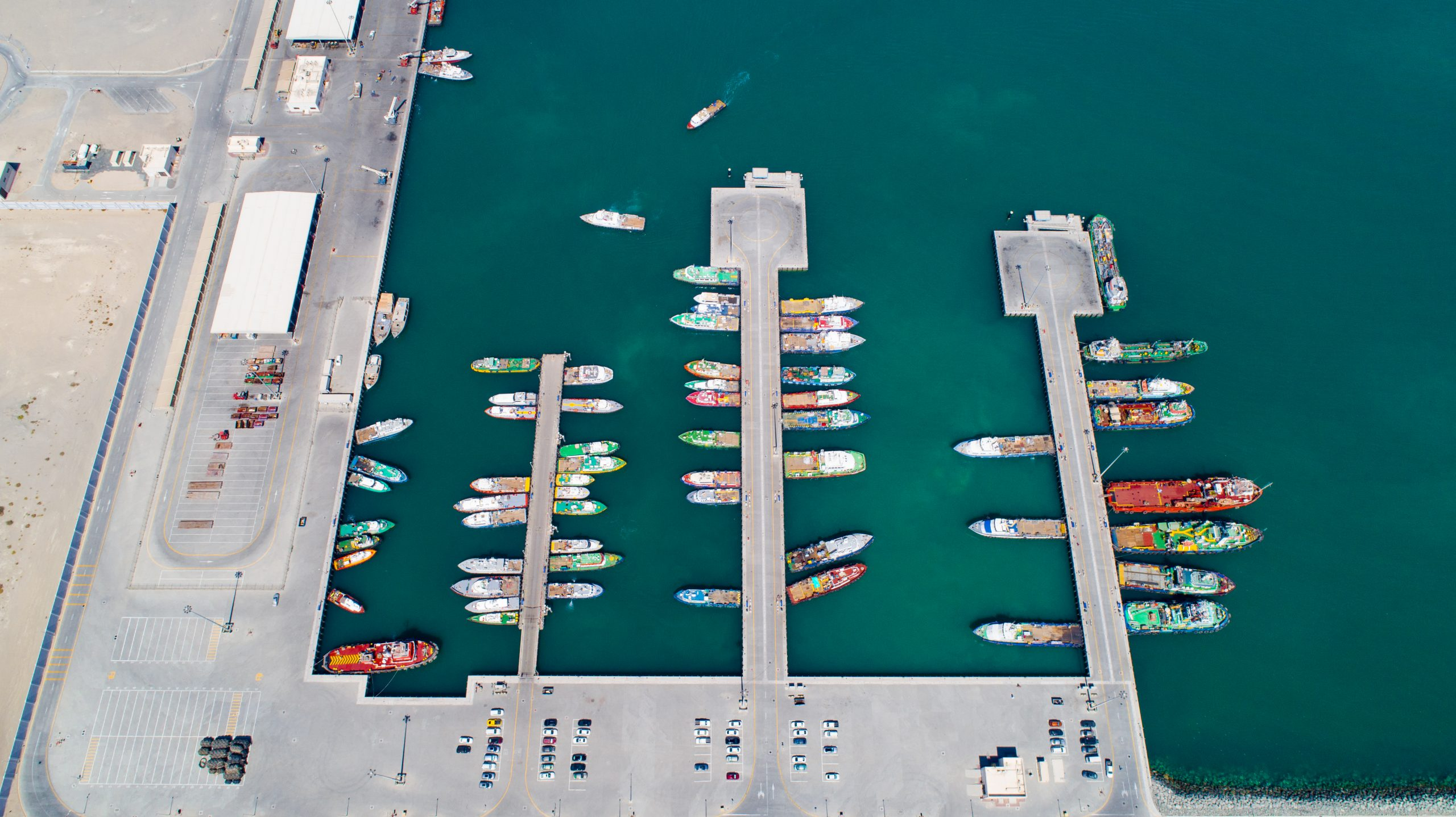 Aerial View of the Service Harbour